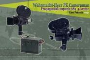 Film Kamera mit externem Batterie-Koffer und Kabeln