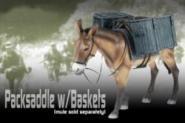 Packsattel mit Packkörben - Exclusive