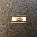 Panzervernichtungsabzeichen 1/6 Silber mit schwarzen Panzer