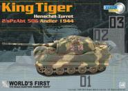 1:72 King Tiger (Henschel Turret) 2/sPzAbt 506, Andler 1944 w/Zimmerit coating
