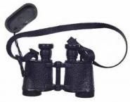 Fernglass in Schwarz mit Okularschutz