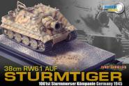 1:72 CH Sturmtiger w/Zimmerit, 1000th Sturmmorser Kompanie, Germany 1945 + Diorama Base