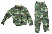Combat Suit Woodland Camouflage Jacket and Pants