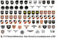Abzeichen für Helme