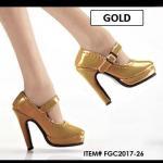 High Heels Gold (Oktober Girl) Kunst-Leder 1/6