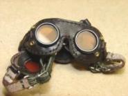 Staubbrille, Kradbrille, grau 1/6 de Luxe, braun