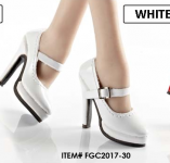 High Heels weiss (Oktober Girl) Kunst-Leder 1/6