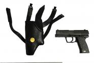 1/6th Holster Rechts  mit Pistolen- im Maßstab 1:6