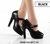 High Heels Black (Oktober Girl) Kunst-Leder 1/6