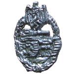 Panzerkampf Abzeichen in Metal 1/6