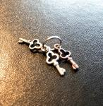 Schlüsselbund in Metal mit 3 Schlüssel in 1/6