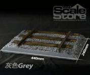 Tracks Gray Display Diorama