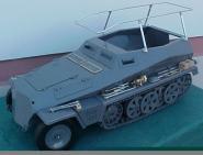 SDKFZ 250 Rahmenantenne Metal  1/6