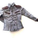 Western Style Shirt with leather 1/6