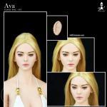 Ava - Female Character (pale) Kopf mit zwei Paar Ohren - im Maßstab 1:6