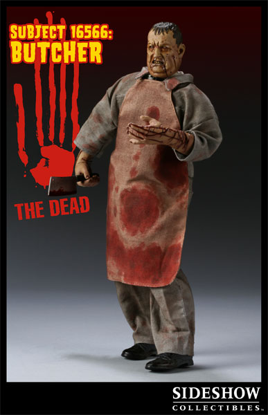 Sideshow 1:6 The Dead 16566 The Butcher Figure Meat Cleaver