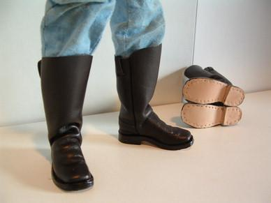 Civil War Cavalry Troopers Boots in Leather
