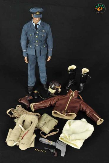 Alert line WWII British Royal air force pilot gloves 1//6 toys DID dragon Joe RAF